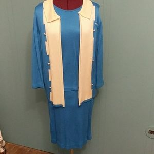 Vintage blue skirt suit